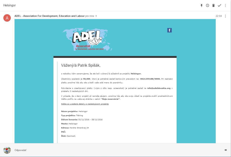 vytvorenie dátumu používateľského profilu