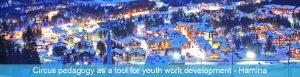 Tréning Circus pedagogy as a tool for youth work development v Hamina, Fínsko